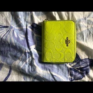Neon green wallet